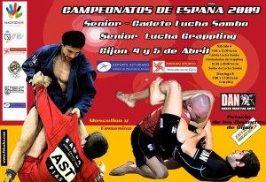 Cartel del Campeonato de España de Grappling 2009