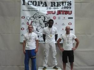 Toni en el podio de -76kg