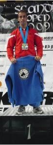 Sergio Calderon (Aranha BJJ) en el podio